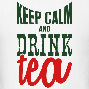 keep calm and drink tea Tank Tops - Men's T-Shirt