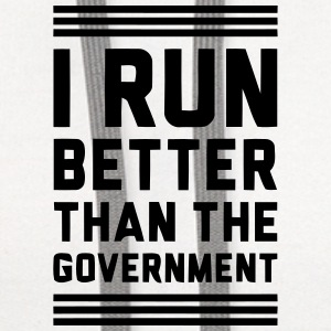 I RUN BETTER THAN THE GOVERNMENT Baby Bodysuits - Contrast Hoodie