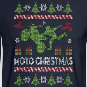 Motocross Ugly Christmas Hoodies - Men's Long Sleeve T-Shirt