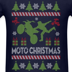 Motocross Ugly Christmas Long Sleeve Shirts - Men's T-Shirt