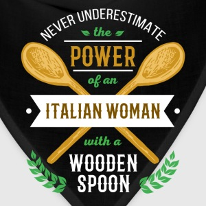 Italian woman with a wooden spoon T-shirt T-Shirts - Bandana