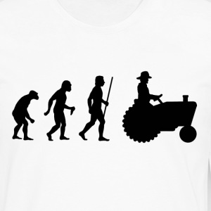 Evolution of Man Farmer - Men's Premium Long Sleeve T-Shirt