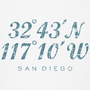 San Diego Tank Top (Women) Coordinates - Men's T-Shirt