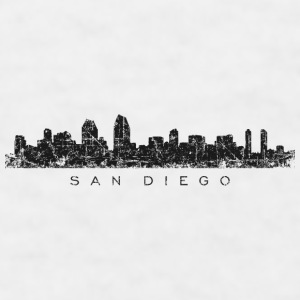 San Diego Mug (White) Skyline - Men's T-Shirt