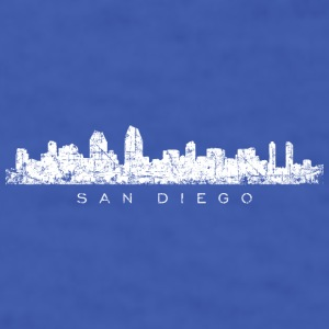 San Diego Mug (Blue) Skyline - Men's T-Shirt