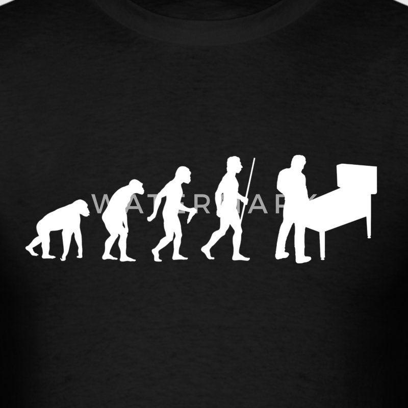 Evolution of Man Pinball - Men's T-Shirt