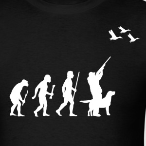 Evolution of Man Duck Hunting - Men's T-Shirt