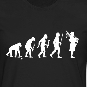 Evolution of Man Bagpipes - Men's Premium Long Sleeve T-Shirt
