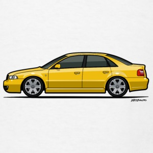 Audi S4 B5 Quattro Imola Yellow Mugs & Drinkware - Men's T-Shirt