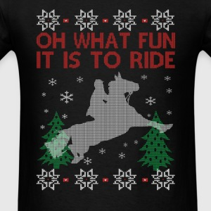 Riding Horse Christmas - Men's T-Shirt