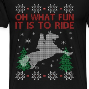 Riding Horse Christmas - Men's Premium T-Shirt