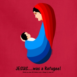 Jesus...was a Refugee! Sweatshirts - Adjustable Apron