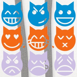 The 9 Lives of the Emoji Cat Baby Bodysuits - Contrast Hoodie