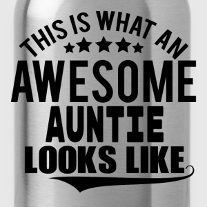 THIS IS WHAT AN AWESOME AUNTIE LOOKS LIKE Women's T-Shirts - Water Bottle
