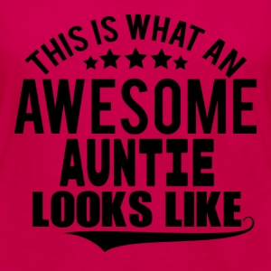 THIS IS WHAT AN AWESOME AUNTIE LOOKS LIKE Women's T-Shirts - Women's Premium Long Sleeve T-Shirt