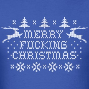 Merry Fucking Christmas Long Sleeve Shirts - Men's T-Shirt