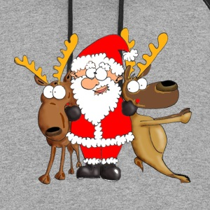 Santa and his Friends Long Sleeve Shirts - Colorblock Hoodie