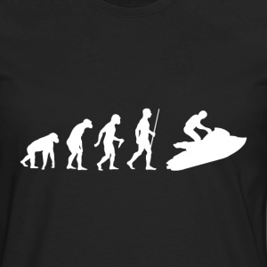 Evolution of Man Jet Ski - Men's Premium Long Sleeve T-Shirt