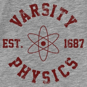 Vintage Varsity Physics Hoodies - Men's Premium T-Shirt