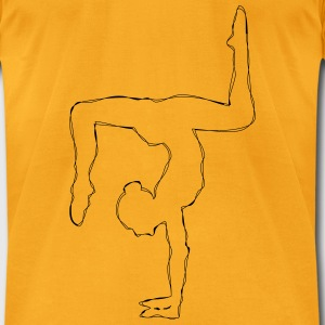 livisline yoga pose handstand Bags & backpacks - Men's T-Shirt by American Apparel
