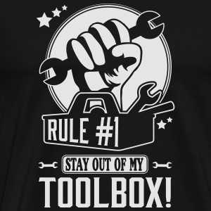 Rule #1: stay out of my toolbox Tank Tops - Men's Premium T-Shirt