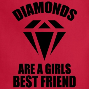 Diamonds Are A Girls Best Friend Women's T-Shirts - Adjustable Apron