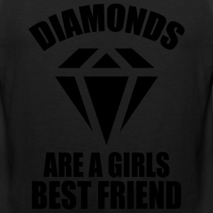 Diamonds Are A Girls Best Friend Women's T-Shirts - Men's Premium Tank