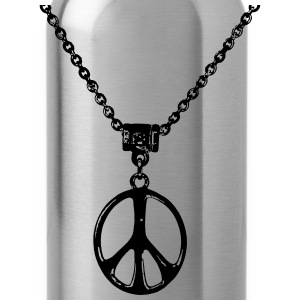 peace and love chain - Water Bottle