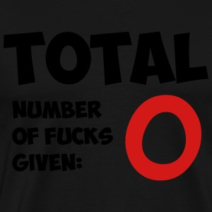 Total number of fucks given - Men's Premium T-Shirt