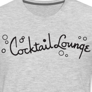 Cocktail Lounge Ash Grey T-Shirt from Verbeeish - Men's Premium Long Sleeve T-Shirt