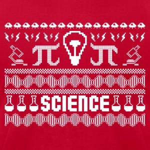 Science Ugly Christmas Sweater Long Sleeve Shirts - Men's T-Shirt by American Apparel