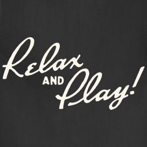 Relax and Play! Black T-Shirt by Verbeeish - Adjustable Apron