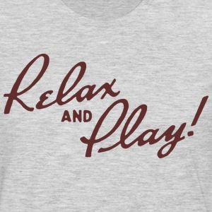 Relax and Play! Ash T-Shirt by Verbeeish - Men's Premium Long Sleeve T-Shirt
