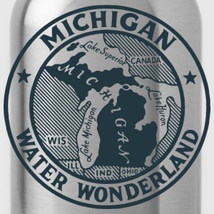 Michigan Water Wonderland Ash T-Shirt by Verbeeish - Water Bottle