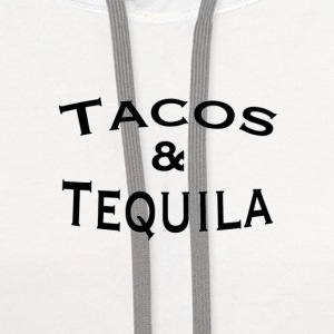 Tacos + Tequila - Contrast Hoodie
