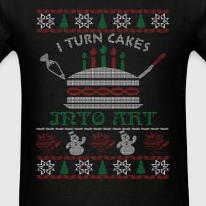 I turn cakes into art - Christmas - Men's T-Shirt
