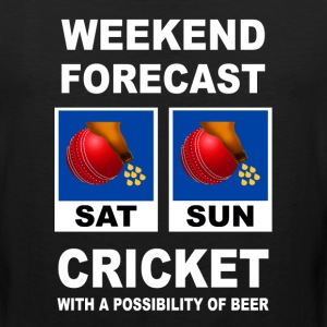 Funny Cricket Weekend Forecast - Men's Premium Tank
