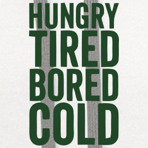HUNGRY TIRED BORED COLD Baby Bibs - Contrast Hoodie