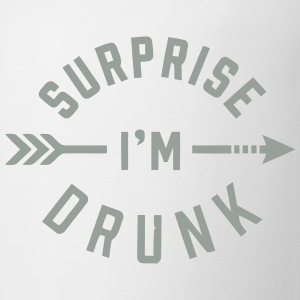 SURPRISE I'M DRUNK Tank Tops - Coffee/Tea Mug