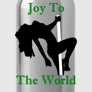 Joy To The World - Green - Water Bottle