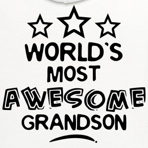 worlds most awesome grandson T-SHIRT - Contrast Hoodie