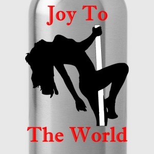 Joy To The World - Red - Water Bottle