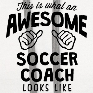 awesome soccer coach looks like T-SHIRT - Contrast Hoodie