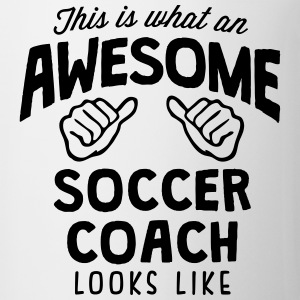 awesome soccer coach looks like T-SHIRT - Coffee/Tea Mug