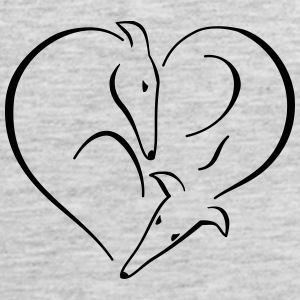 Sighthound heart Women's T-Shirts - Men's Premium Tank