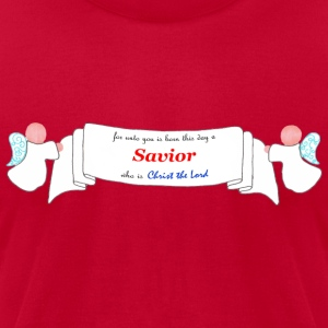 Savior is Born - Men's T-Shirt by American Apparel