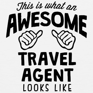 awesome travel agent looks like T-SHIRT - Men's Premium Tank