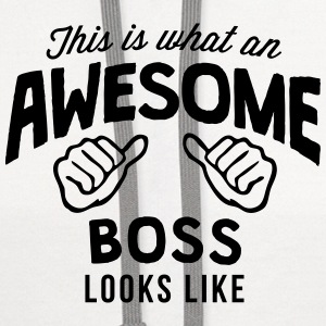 this is what an awesome boss looks like T-SHIRT - Contrast Hoodie