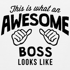 this is what an awesome boss looks like T-SHIRT - Men's Premium Tank