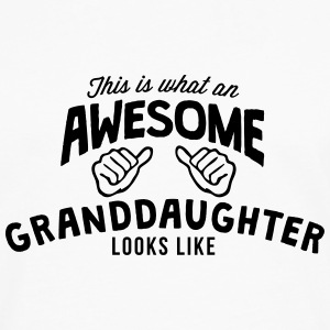 this is what an awesome granddaughter lo T-SHIRT - Men's Premium Long Sleeve T-Shirt